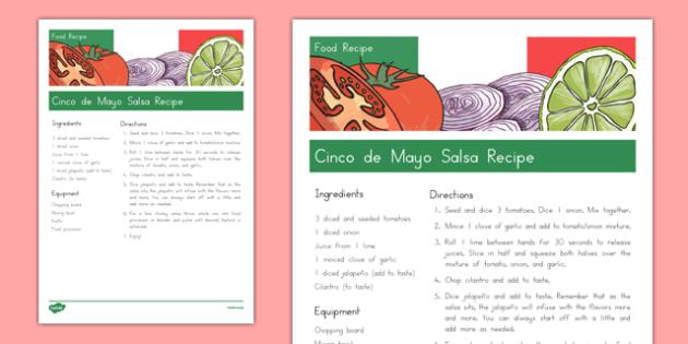 Cinco de Mayo Salsa Recipe - usa, america, cinco de mayo, salsa recipe, salsa, recipe