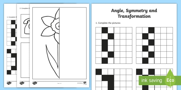 Early Level Assessment Symmetry and Transformation Activity Sheet - CfE Early Level Assessment, symmetry, shape,Scottish, Worksheet