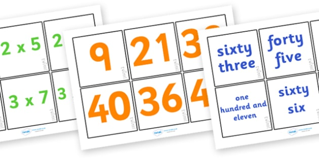 Times Table Snap Cards - times tables, times table snap cards, number and sum matching cards, multiplication matching cards, sum matching game, numeracy