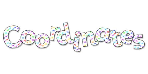 Coordinates Display Lettering - coordinates, co-ordinates, co-ordinates lettering, coordinates lettering, coordinates display, coordinates display words