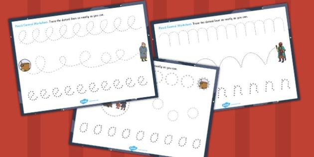 Babushka Pencil Control Sheets - babushka, control, pencil, sheet