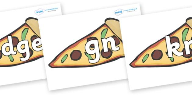 Silent Letters on Pizza - Silent Letters, silent letter, letter blend, consonant, consonants, digraph, trigraph, A-Z letters, literacy, alphabet, letters, alternative sounds