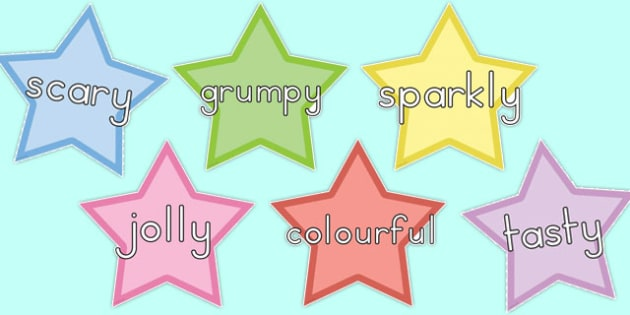 WOW Words on Stars Multicoloured - australia, wow words, stars