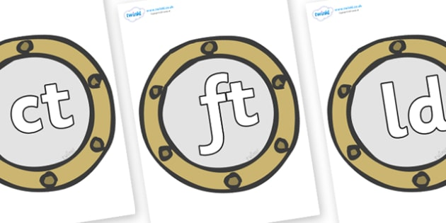 Final Letter Blends on Portholes - Final Letters, final letter, letter blend, letter blends, consonant, consonants, digraph, trigraph, literacy, alphabet, letters, foundation stage literacy