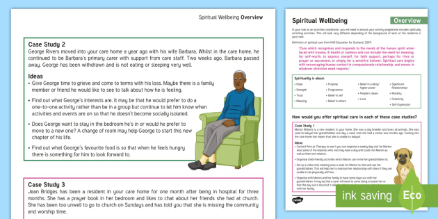 Spiritual Wellbeing Overview Adult Guidance - Spiritual Wellbeing, Support, Mindfulness, Christian, Church, Ideas, Elderly Care, care Homes