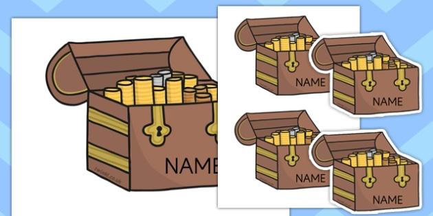 Editable Treasure Chests - Teasure chest, editable, Pirate, Pirates, Topic, cutting, fine motor skills, activity, Fantasy topic, treasure,