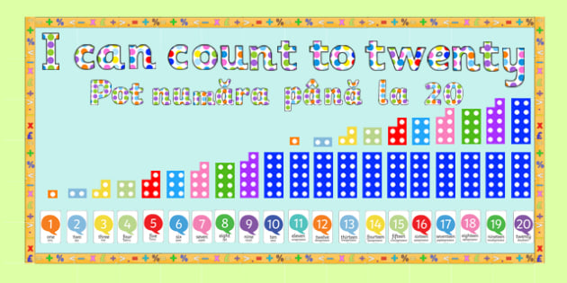 Ready Made 'I Can Count to Twenty' Display Pack English/Romanian