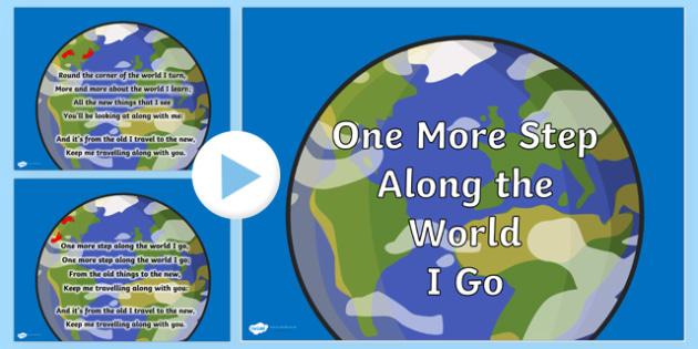 One More Step Along the World I Go Hymn Lyrics PowerPoint - one more step along the world I go,  hymn, powerpoint, lyrics powerpoint, hymn powerpoint