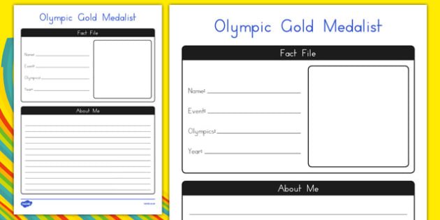 Olympic Gold Medallist Activity Sheet - usa, america, olympic, gold medallist, activity, worksheet