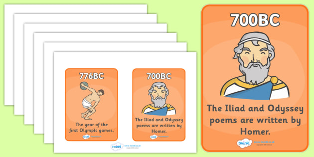 Ancient Greece Timeline Cards - Ancient Greece, history,Greeks, timeline, cards, flashcards, Ancient, Greece, Olympic games, Homer, Athens, Alexander the Great , theatre, parthenon, Sparta, peloponnesian war, persians