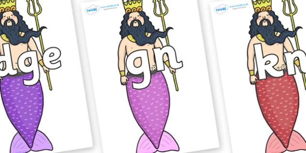 Silent Letters on Sea King - Silent Letters, silent letter, letter blend, consonant, consonants, digraph, trigraph, A-Z letters, literacy, alphabet, letters, alternative sounds