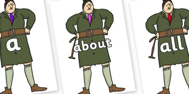 100 High Frequency Words on Mrs Trunchbull to Support Teaching on Matilda - High frequency words, hfw, DfES Letters and Sounds, Letters and Sounds, display words
