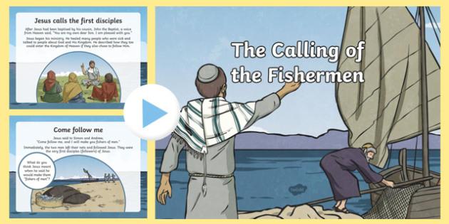 Calling of the Fishermen PowerPoint - Jesus, disciples, calling, fishermen, ks1, ks2