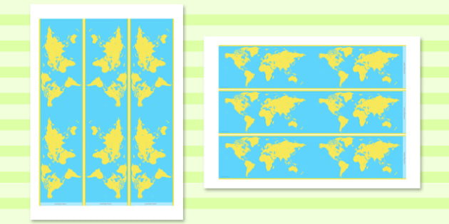 Blue and Yellow Geography Display Borders - display, borders