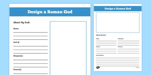 Roman God Design Template - romans, roman god, template, design
