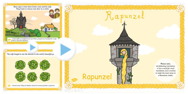 Rapunzel Story PowerPoint EAL Romanian Translation - romanian