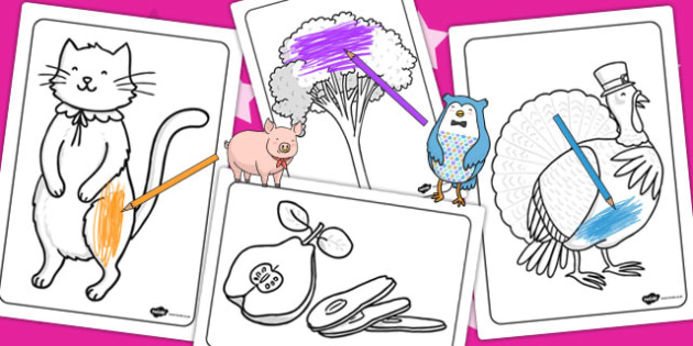The Owl and the Pussycat Colouring Sheets - story books, colour