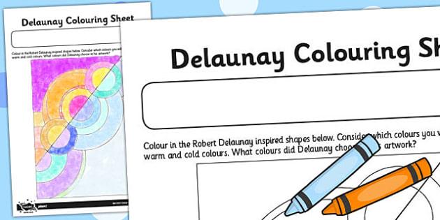 Robert Delaunay Colouring Sheet - robert, delaunay, colouring