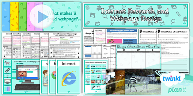 PlanIt - Computing Year 5 - Internet Research and Webpage Design Unit Pack - planit, computing, year 5, internet research and webpage design, unit pack