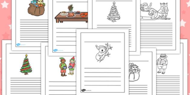 Christmas Writing Frames - australia, christmas, writing, frame