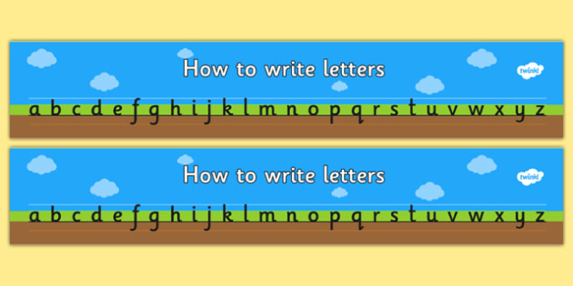 How to Write Letters Writing Aids (Plain) - education, home school, child development, children activities, free, kids, worksheets, how to write, literacy