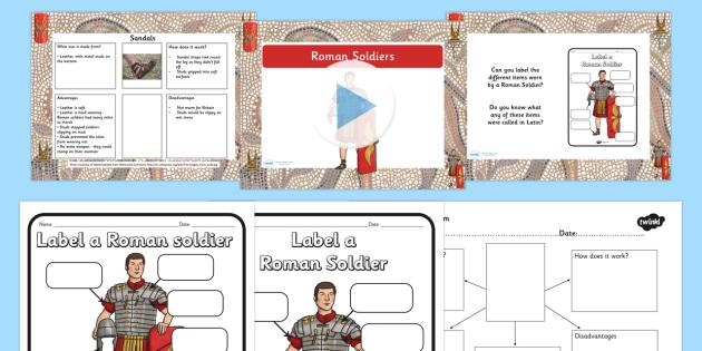 Roman Soldier Task Setter Flipchart - roman, task setter, history