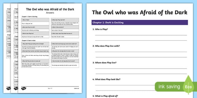 The Owl Who Was Afraid Of The Dark Differentiated Reading Comprehension Activity-Scottish
