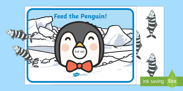 Feed the Penguin Counting Activity - The Arctic, Polar Regions, north pole, south pole, explorers, counting