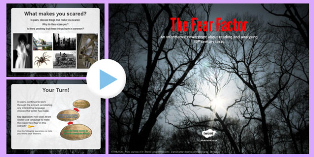 The Fear Factor PowerPoint - the fear factor, powerpoint, fear, factor