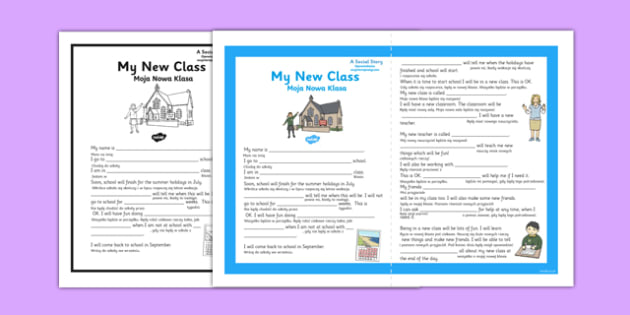 My New Class Social Situation Primary Polish Translation - polish, new class, social, story