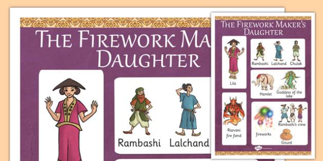 The Firework Makers Daughter Vocabulary Mat - myths, stories
