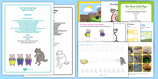 The Three Little Pigs Quiet Time Box