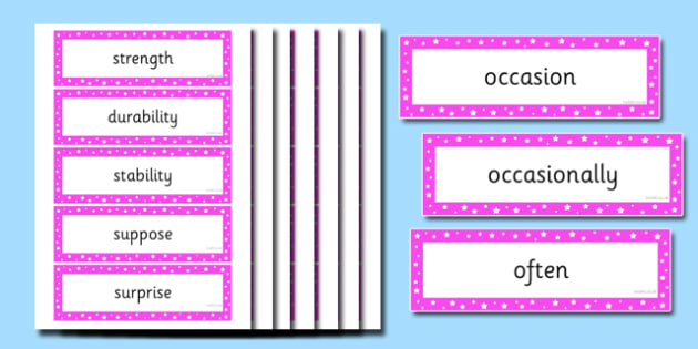Year 4 Spellings Word Cards - year 4, spelling, word cards, word, cards, spell, activity