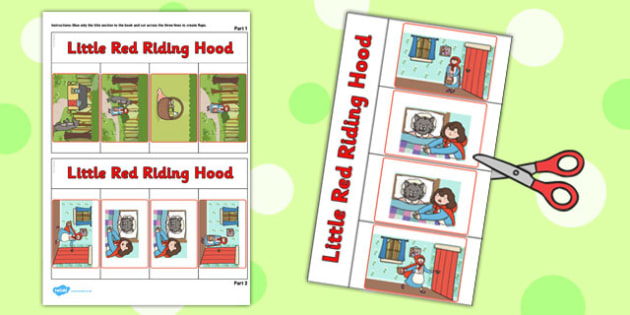 Little Red Riding Hood Story Writing Flap Book - flap book, story
