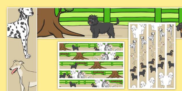Dog Themed Display Borders - Dame Lynley Dodd, hairy maclary, display borders