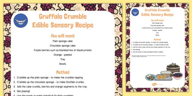 Gruffalo Crumble To Support Teaching On The Gruffalo Edible Sensory Recipe - Julia Donalsdon, cake