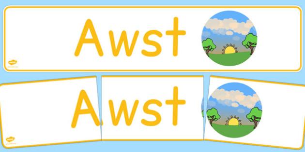Awst Display Banner Cymraeg - cymraeg, year, months of the year, august