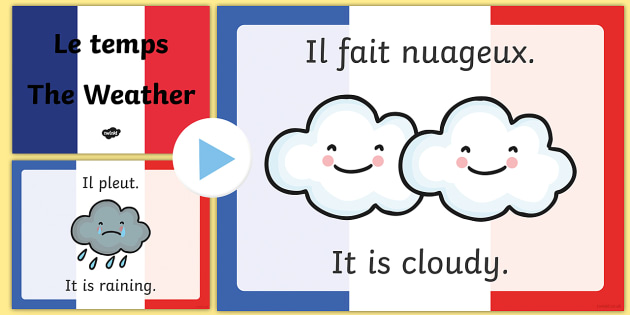 French Weather PowerPoint - French, Weather, Rain, Shine, France