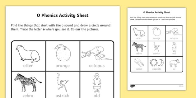 o Phonics Activity Sheet-Irish, worksheet