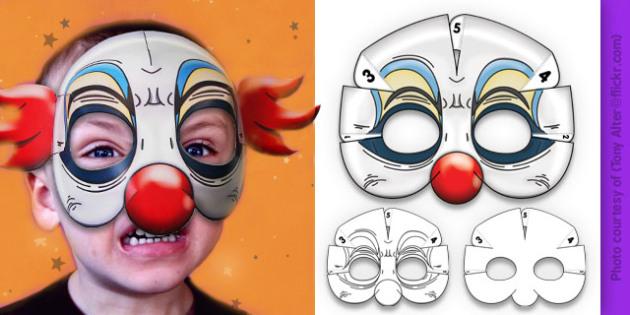 3D Halloween Clown Monster Mask - 3d, halloween, clown, monster, mask