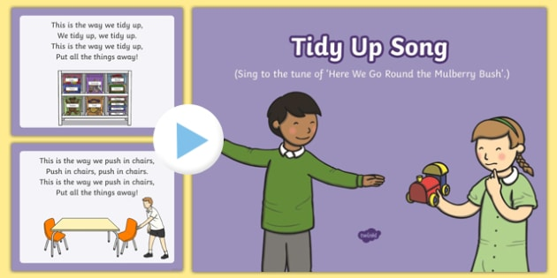 Tidy Up Song PowerPoint