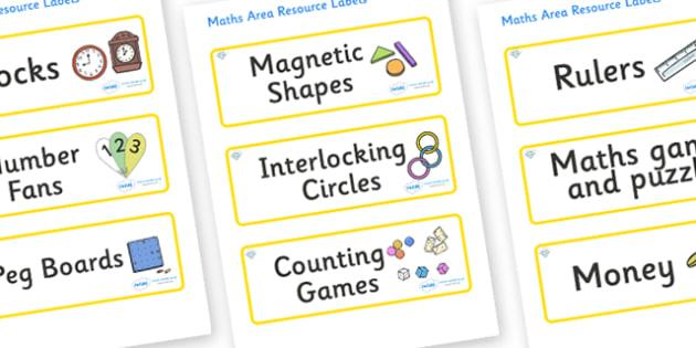 Diamond Themed Editable Maths Area Resource Labels - Themed maths resource labels, maths area resources, Label template, Resource Label, Name Labels, Editable Labels, Drawer Labels, KS1 Labels, Foundation Labels, Foundation Stage Labels, Teaching Lab