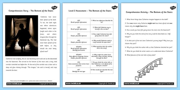 The Bottom of the Stairs Differentiated Reading Comprehension Activity - comprehension, literacy