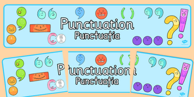 Punctuation Display Banner Romanian Translation - romanian, punctuation, display banner, display, banner