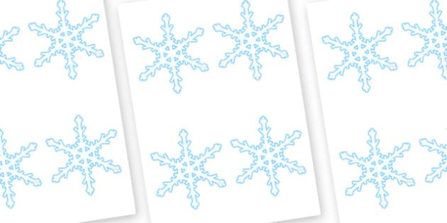 Snowflakes Editable  - snowflakes, editable, winter, display