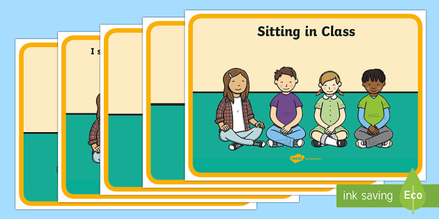 Social Situation (Sitting in Class) - social story, social stories, Behaviour management, self-awareness, self-calming, Autism, PSHE, SEN, social situations, social skills, story, stories