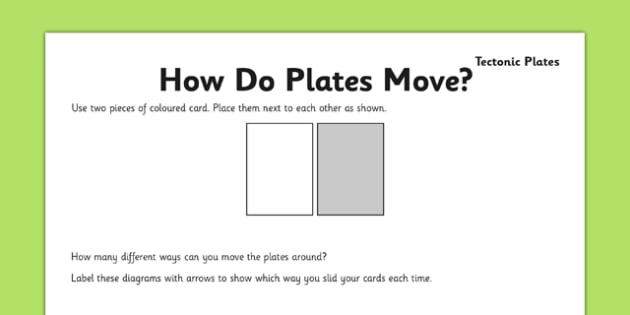 How Do Plates Move Activity Sheet - how do, plates, move, activity, sheet, worksheet