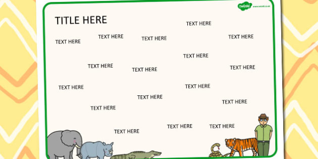 Zoo Themed Editable Word Mat - literacy, words, writing, mats
