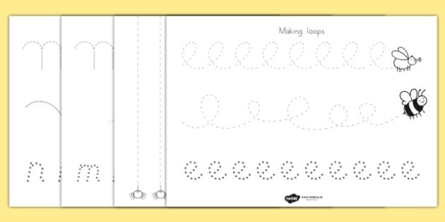Minibeast Theme Pencil Control Worksheets - minibeast, control
