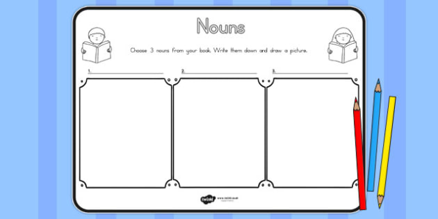 Nouns Comprehension Worksheet - australia, nouns, comprehension